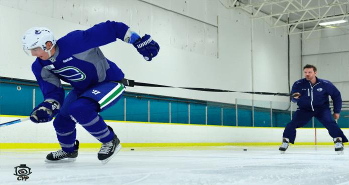 Ice Hockey Skating Coach Powerful Stride Alexander Burrows Derek Popke Vancouver Hockey School Tips and Drills