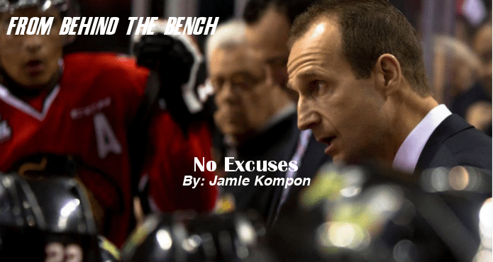 No excuses Jamie Kompon From Behind the bench Ice Hockey Coach tips and drills Winnipeg Jets