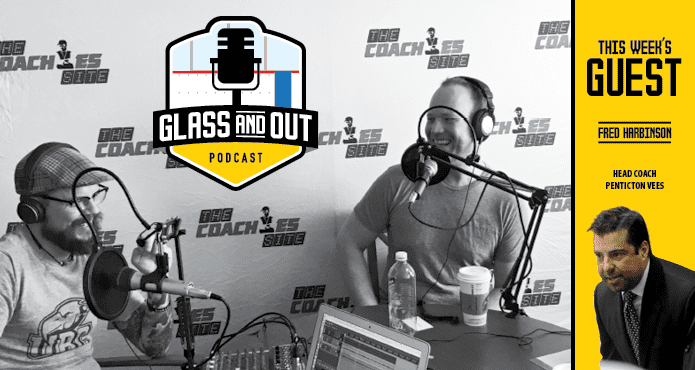 Glass and Out Podcast Fred Harbinson Pentictomn Vees BCHL Kelvin Cech Aaron Wilbur