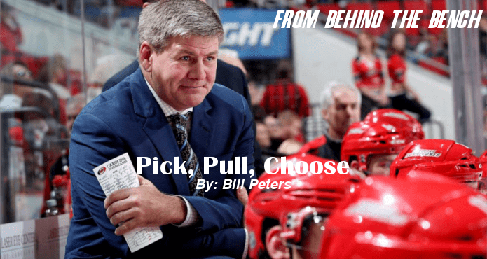 Bill Peters Pick Pull Choose From Behind the Bench Carolina Hurricanes NHL Ice Hockey Coach Tips and Drills