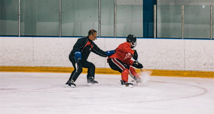 Glenn Carnegie Puck Protection Ice Hockey Coach Tips and Drills Skills Edges Vancouver Canucks NHL