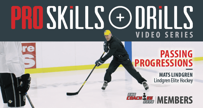 Pro Skills and drills Mats Lindgren Passing Progressions Ice Hockey Tips Coach