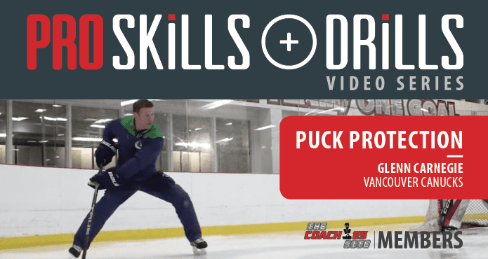 Glenn Carnegie Puck Protection Vancouver Canucks Ice Hockey Coach Tips and Drills