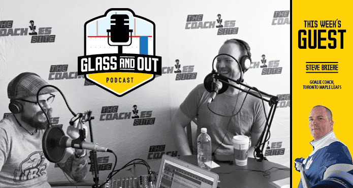Maple Leafs Goalie Coach Podcast Glass and Out Ice Hockey Coach Kelvin Cech Aaron Wilbur