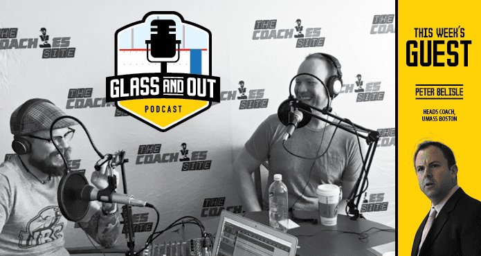 Peter Belisle Glass and out podcast Ice Hockey UMass