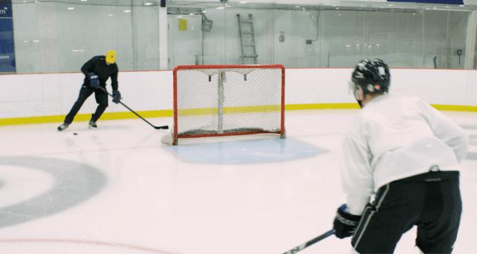 mats lindgren, NHL, passing drill