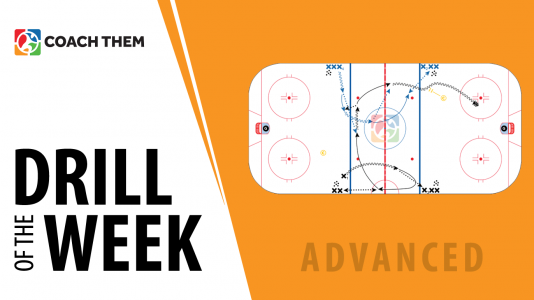 Ice Hockey Drill Beginner The Coaches Site